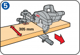 Mitre sawing - Sawing width