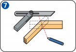 Mitre sawing - Variable bevel angles